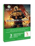 Carte pr-paye abonnement Xbox Live 3 mois Microsoft Gears of War Judgment pour Xbox 360 + 1 Mois gratuit
